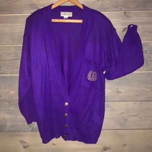 80's A'MILANO purple campus sweater